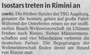 Augsburger Allgemeine vom 08.04.2006