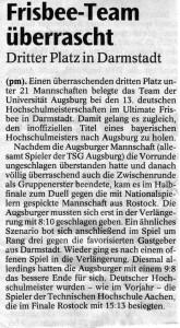 Augsburger Allgemeine 27.07.2004